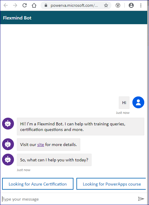 Chat Bot example